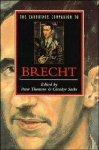 """""""Cambridge Companion to Brecht by Thomson, Peter """""""