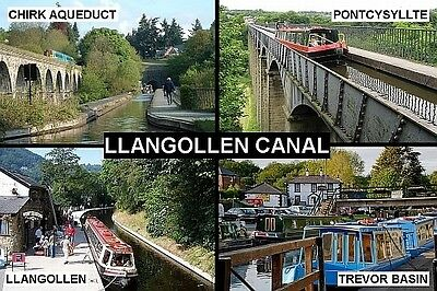 SOUVENIR FRIDGE MAGNET of THE ROCHDALE CANAL /& HEBDEN BRIDGE /& MANCHESTER