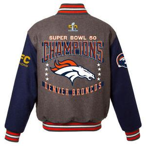 6ead4234f22 NFL Denver Broncos Super Bowl 50 Champions Wool Reversible Jacket ...