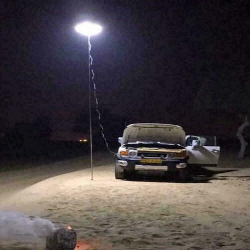 Telescopic Fishing Rod LED Lantern Outdoor Camping Car Quality BBQ Light N5F3