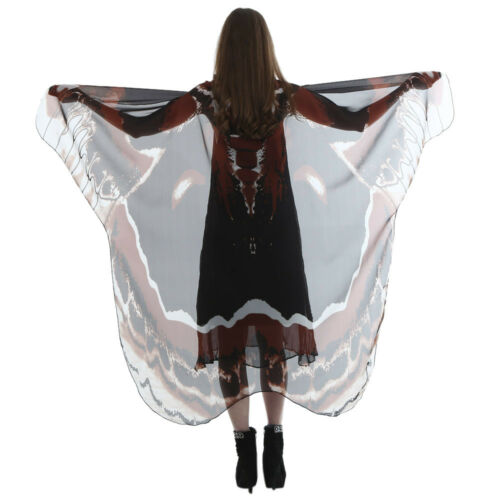 Women Lady Long Butterfly Wing Cape Soft Scarf Scarves Wrap Shawl Nymph Costume