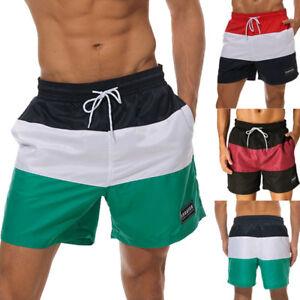 f269b758112a0 Men's Quick Dry Swimming Shorts Pants Printed Mesh Lined Beach ...