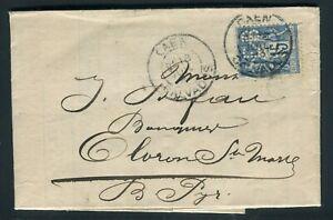 Type Sage Perforé Eb Sur Lettre Commerciale De Caen Pour Oloron Ste Marie 1893