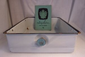 Vtg-1930-039-s-50-039-s-FRIGIDAIRE-Refrigerator-Enamel-Hydrator-Drawer-Recipe-Book-Lot