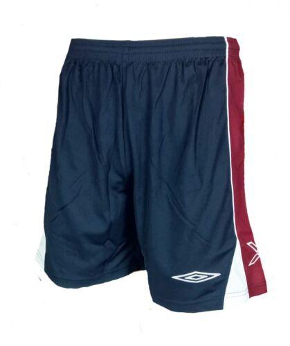 LARGE Mens UMBRO Evo X Football Shorts Navy Red Training Gym Running Polyester