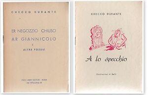 CHECCO-DURANTE-2-OPUSCOLI-ER-NEGOZZIO-CHIUSO-AR-GIANNICOLO-E-ALLO-SPECCHIO