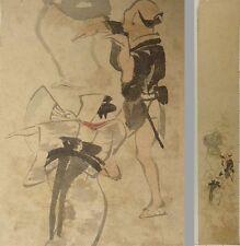 YL43 TANZAKU Dance Human Japanese Art painting Nihonga Picture