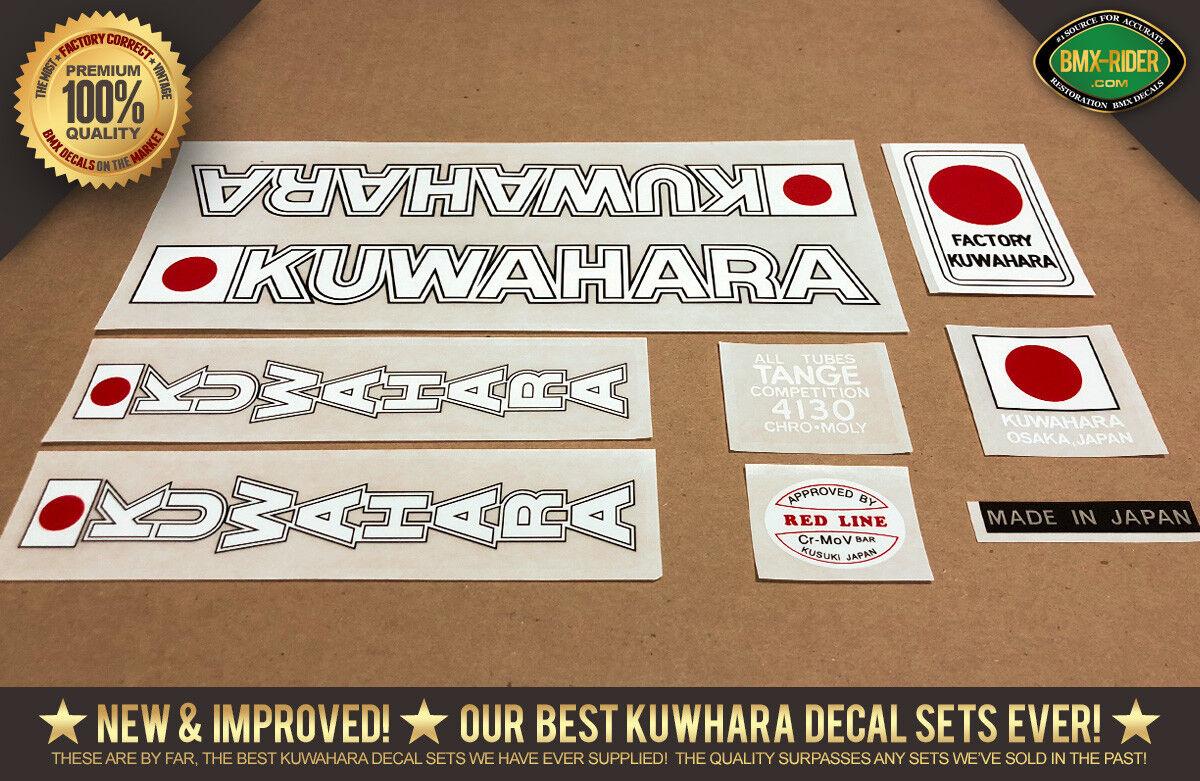 NEW - Kuwahara KE-1 BMX Decals - 1979 - 1980  (KE-1   Early KZ) - For Dark Frames  first time reply