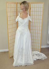 Bonny Wedding Dress Size 10 - White w/Beads - Train - New