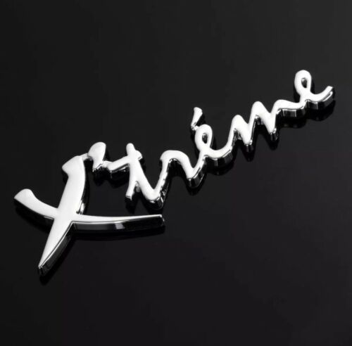 STICK ON XTREME CAR BADGE Chrome Peel /& Stick Bumper Boot Sticker 3D Emblem Sign