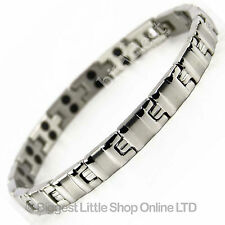 New LADIES Magnetic STAINLESS STEEL Bracelet 34 Magnets Neodymium Therapy BOXED