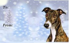 Greyhound Dog Christmas Labels by Starprint - No 2 - Auto combined postage