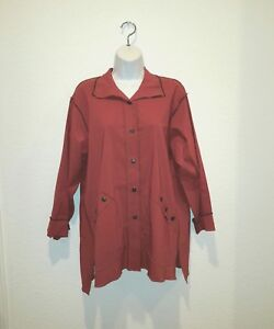 NEW-womens-XIAO-1503-Monica-Jacket-RUST-red-orange-Large-NWT-198-USA
