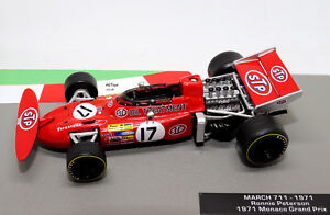 FORMULA-1-AUTO-COLLEZIONE-MARZO-711-1971-RONNIE-PETERSON-1-43-modello-F1