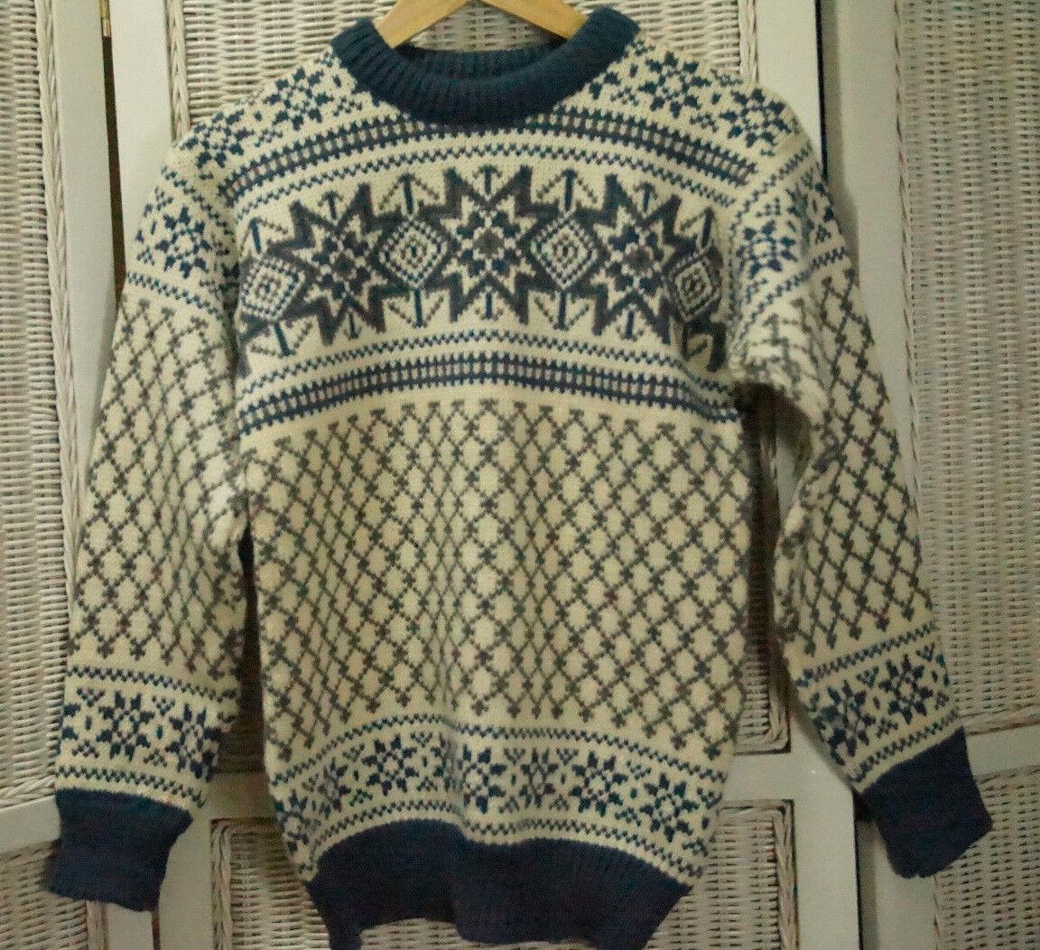 DALE OF NORWAY Nordic Jumper S-M S-M S-M 35  Bust Scandinavian Norwegian Wool Sweater 5af117
