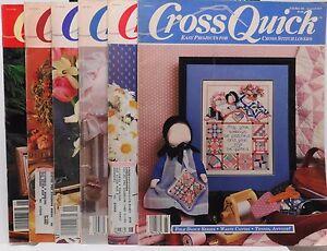 Lot-of-6-Cross-Quick-Magazines-February-1989-thru-January-1990-Used-1265