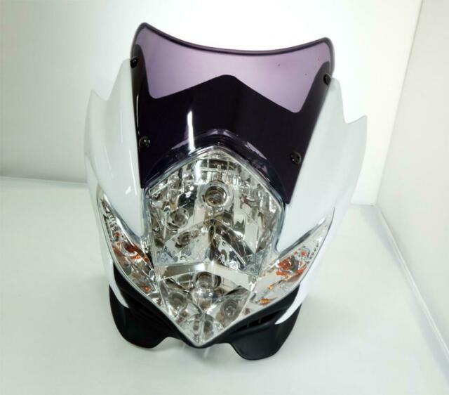 Headlight Lamp Motorcycle Bike Fairing Kawasaki Ksr Streetfighter White
