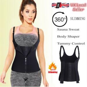 a0a1751339 Hook+Zipper Sauna Sweat Body Shaper Neoprene Women Slimming ...