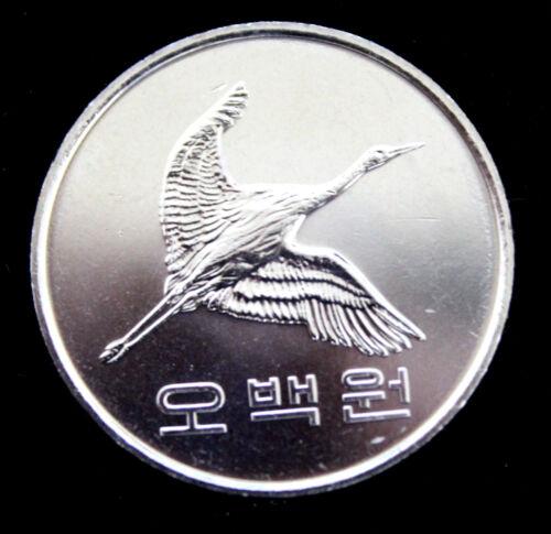 "2014 YEAR SOUTH KOREA 500 WON MINT COIN UNC /""CRANE SHAPE/"""