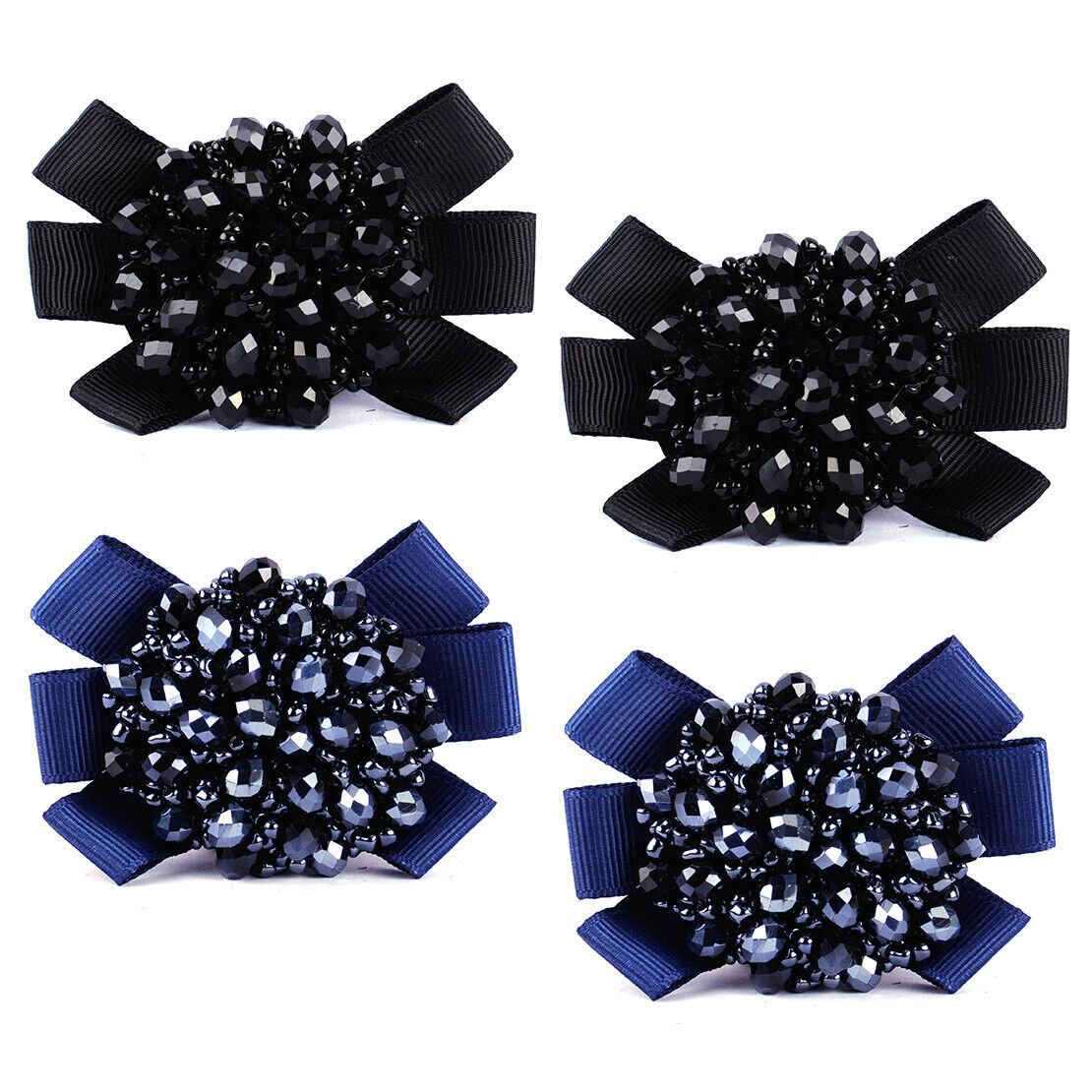 1 Pair Crystal Beads Bows Boot Shoe Clips Women Kids Girls Sandal Accessories je