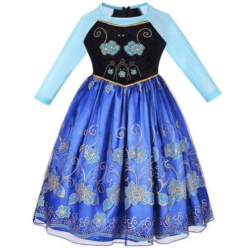 Elsa Anna Princess Dress Frozen Dresses Girls Costume Party Fancy Snow Queen ZG8