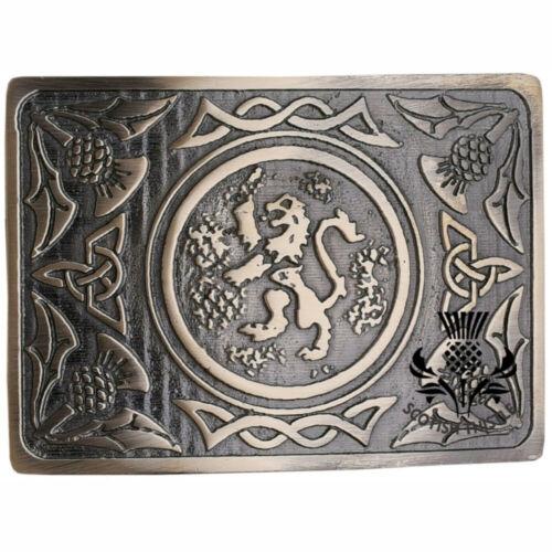 Neu Highland Kilt Gürtelschnalle Keltisch Knoten Antik Schottisch Löwe Rampant