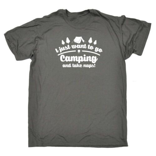 I Just Want To Go Camping And Take Naps Funny Novelty T-Shirt Mens tee TShirt