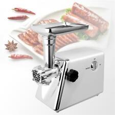 Stainless Electric Meat Grinder Mincer Sausage Stuffer Filler Chopper Machine Us