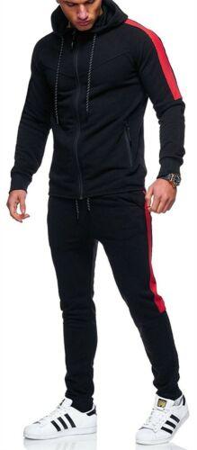 Mens Boys Contrast Tracksuit Trainingsuit Schoolsuit Hoodie Bottom Jogging  Suit