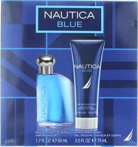 bf996ecf6045 NEW NAUTICA BLUE EDT COLOGNE Spray 1.7 oz / Body Wash 2.5 oz MEN ...