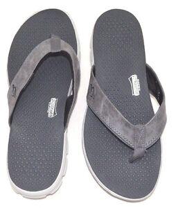 Details about SKECHERS Men's Goga mat Technology Flip Flops Gray Gray Size 13 FREE SHIPPING