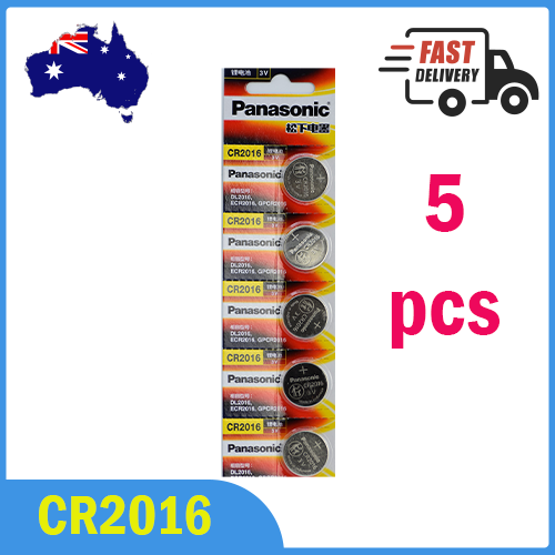 5x CR2016 Button Lithium Battery Genuine Panasonic made in Indonesia