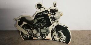 Pannello-Pubblicitario-Cartone-Ducati-Monster-Dark-Vintage-Cartone