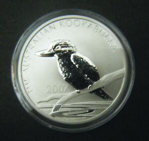 2007 Australia Kookaburra 1 Oz .999 Silver $1 IN ORIGINAL CAPSULE FROM MINT ROLL