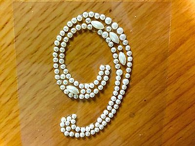 CB66SW 50 Self Adhesive AB Pointed Faceted Diamante Rhinestone Stick on Gems