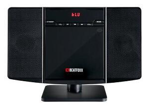 b ware vertikal hifi stereo anlage system cd player bluetooth mp3 usb wand radio ebay. Black Bedroom Furniture Sets. Home Design Ideas