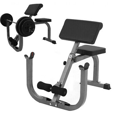 Preacher Curl Weight Bench Isolated Barbell Dumbbell Biceps Station Roman Chair