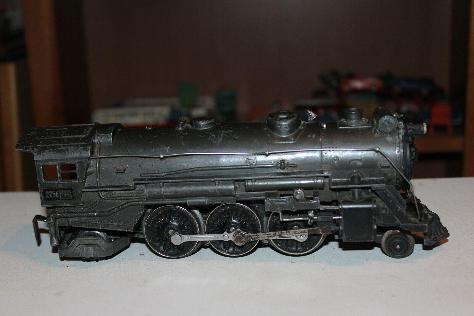 Vintage Lionel  225E Locomotora de Vapor gris Plomo
