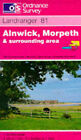 Alnwick, Morpeth and Surrounding Area by Ordnance Survey (Sheet map, folded, 1991)