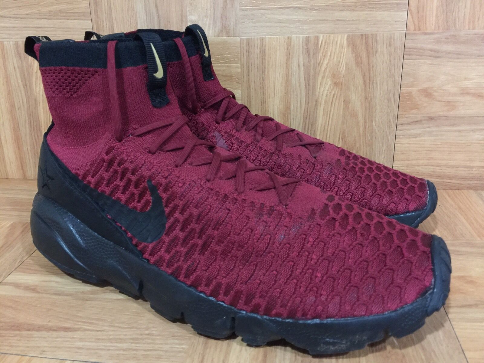 RARE Nike Air Footscape Magista Flyknit FC Team Red Black Potugal Ronaldo 11.5
