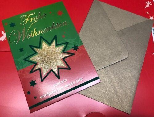 20 x Weihnachtskarten Weihnachten m Neujahresgruß div Umschlag Klappkarten m