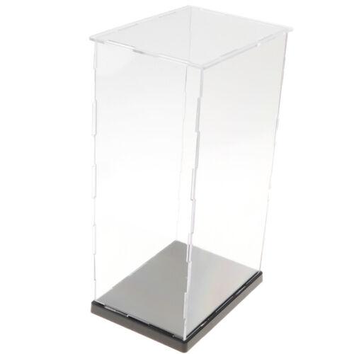 Vitrina de exhibición transparente 14x19x34cm con base negra para figuras