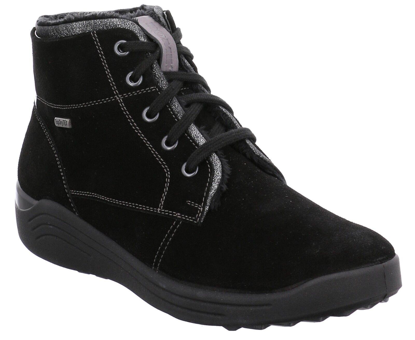 Señoras Romika Madera Negro botas Con Cordones Cordones Cordones Talla Uk 5 (EUR 38)  Entrega gratuita y rápida disponible.