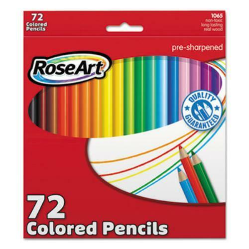 1065AA48 Assorted Lead 72 // Box Roseart Presharpened Colored Pencils
