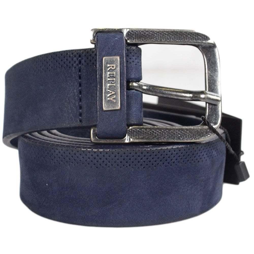 Replay AM2499 Navy Leather Belt | Hohe Qualität Qualität Qualität und geringer Aufwand  3148a7