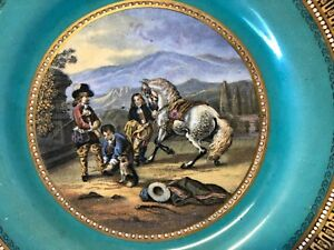 Ceramics & Porcelain Vintage Antique Shakespearean Decorative Scene Porcelain Plate To Prevent And Cure Diseases Plates & Chargers