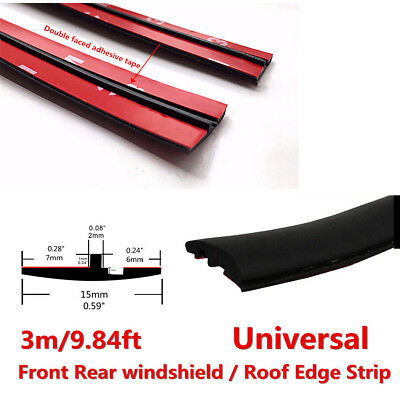 3M//9.84ft Black Car Sealing Weather Strip Trim For Car Front Rear Windshield New
