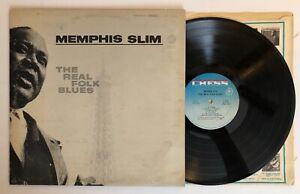 Memphis-Slim-The-Real-Folk-Blues-1966-US-1st-Press-EX-Ultrasonic-Clean