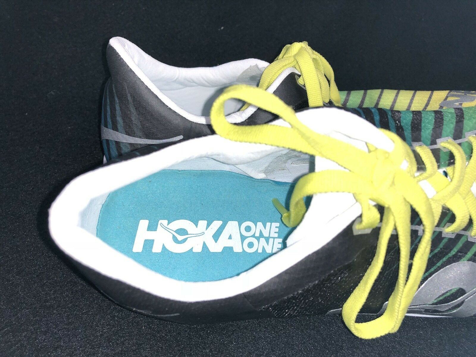 Hoka One One Speed Evo R Running Rio  Uomo Schuhes Running R Track Yellow Grün Silver Grau e19c36