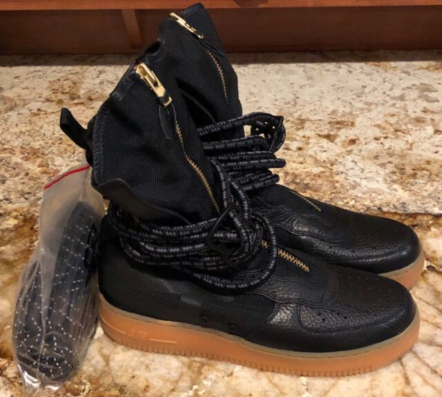 NIKE Air Force 1 High Black Sneakerboots Shoes Boots Sneakers NEW Mens Sz  9.5 10